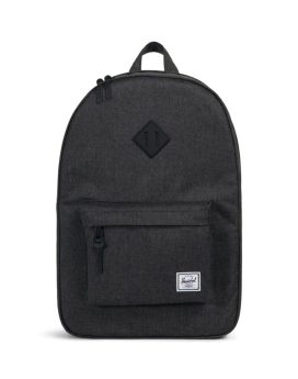 Herschel Supply Co Heritage Backpack Black Crosshatch Black Rubber Front