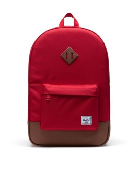 Herschel Supply Co Heritage Backpack Red Saddle Brown Front 1