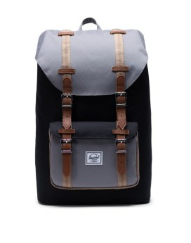Herschel Supply Co Little America Backpack Black Grey Pine Bark Tan 1