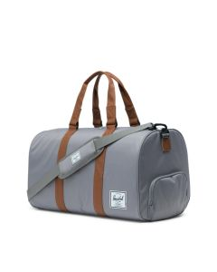 Herschel Supply Co Novel Duffle Grey Tan Synthetic Leather Side