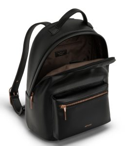 Matt and Nat Bali Backpack Loom Collection Black Rose Gold Inside