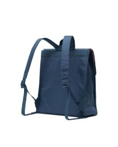 Herschel Supply Co City Backpack Mid-Volume Navy Tan Synthetic Leather Back