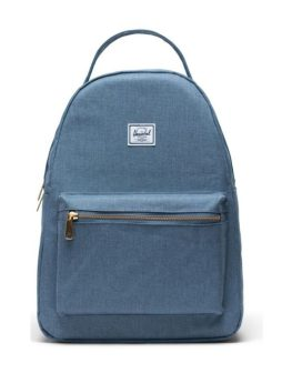 Herschel Supply Co Nova Backpack Mid-Volume Blue Mirage Crosshatch Front 1