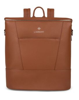 Lambert Mia Diaper Backpack Tan Front