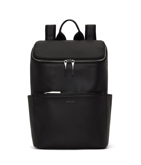 Matt and Nat Brave Backpack Purity Collection Black Front