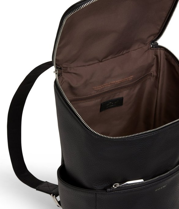 Matt and Nat Brave Backpack Purity Collection Black Back