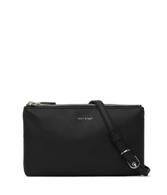 Matt and Nat Triplet Crossbody Purity Collection Black Front