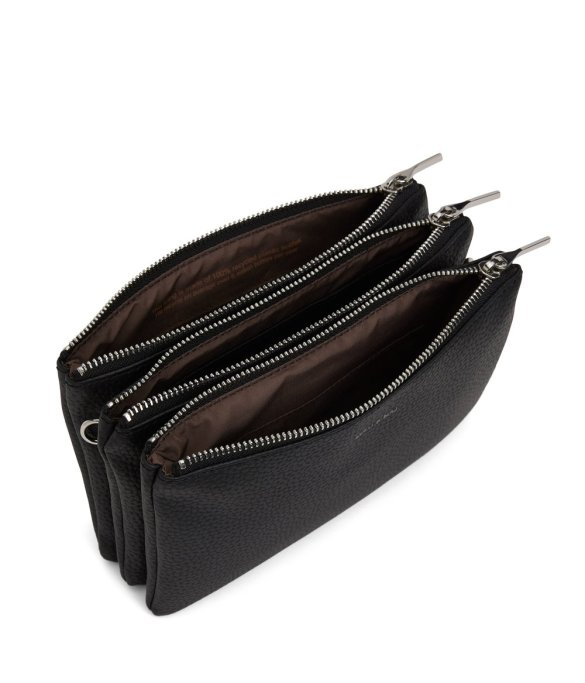 Matt and Nat Triplet Crossbody Purity Collection Black Inside