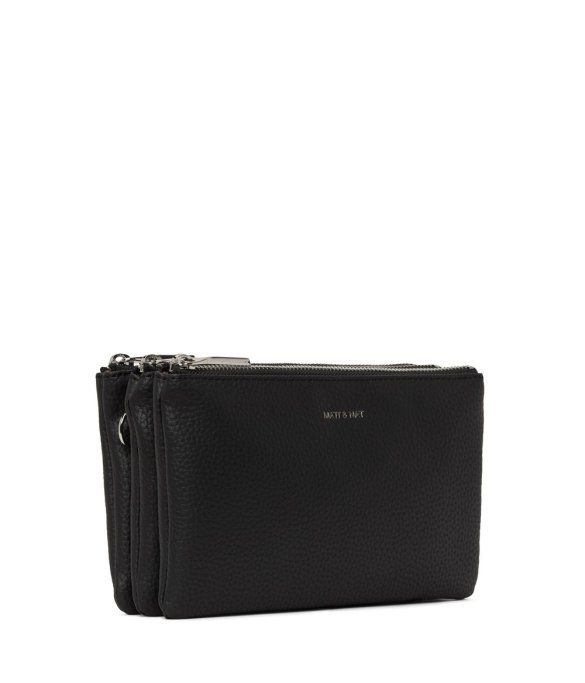Matt and Nat Triplet Crossbody Purity Collection Black Side
