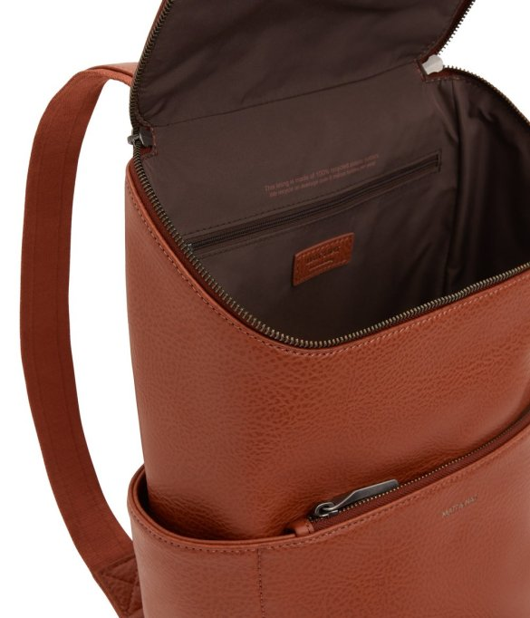 Matt and Nat Brave Backpack Dwell Collection Chai Inside