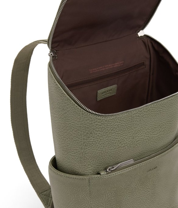 Matt and Nat Brave Backpack Dwell Collection Matcha Inside