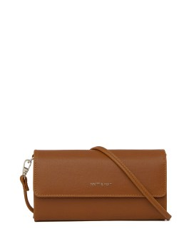 Matt and Nat Drew Med Crossbody Vintage Collection Chili Matte Nickel Front
