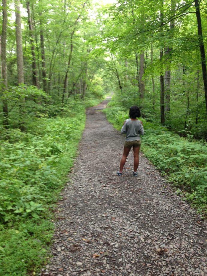 Kim back view appalachian trail