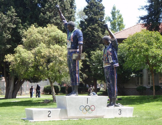 tommie smith statue-san jose