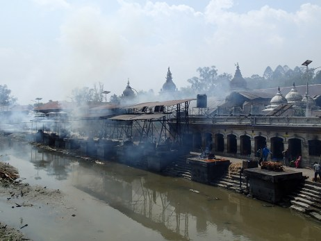 Pashupatinath Temple crematorium.