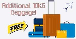 Indigo Additional 10KG Baggage offer