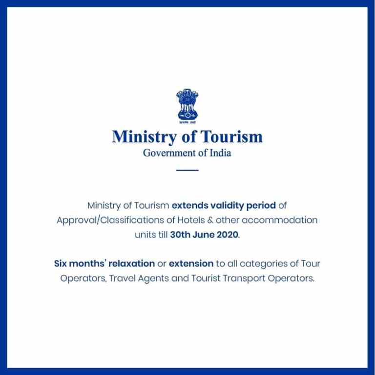 Ministry of Tourism extends validity period of Approval of Hotels