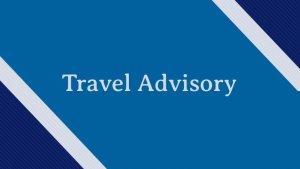 Travel Advisory On e-Pass