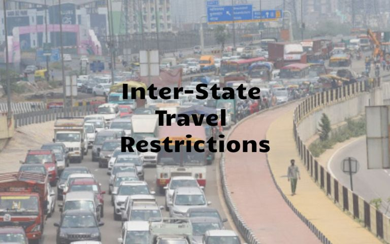 Inter-State Travel Restrictions