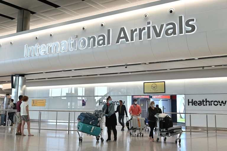 London Airport Coronavirus Tests