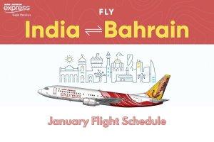 Air India Express January Flight Schedule Bahrain