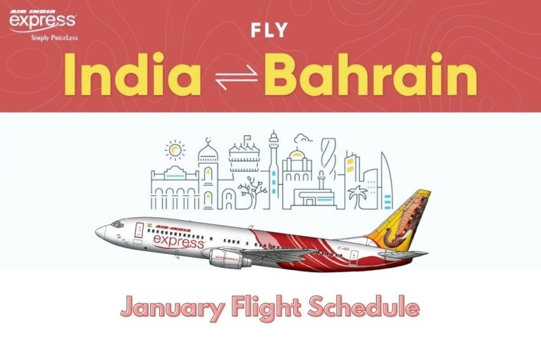 Air India Express January Flight Schedule Bahrain