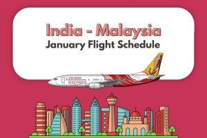 Air India Express January Schedule Malaysia