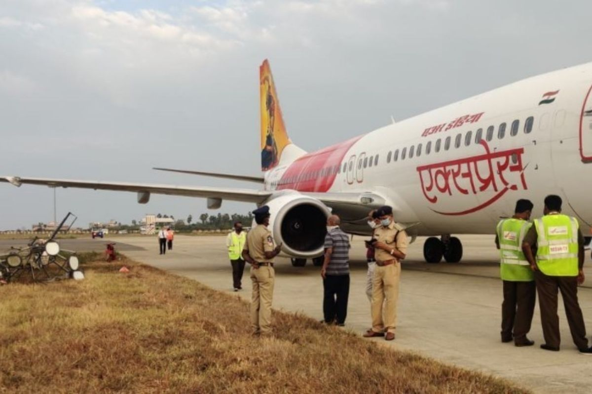 Air India Express Flight Hits Electric Pole While Landing