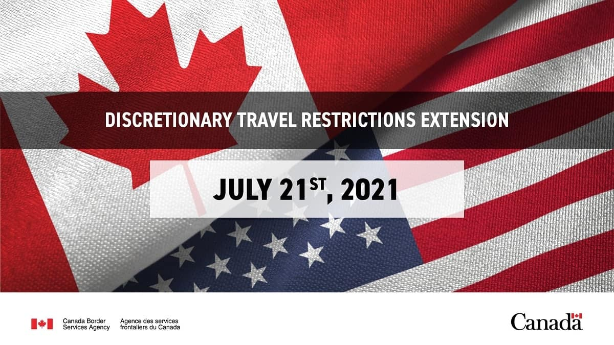 Canada Extends Non-essential Travel Restrictions