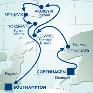 Azamara's cruise to Iceland