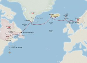Viking's ocean cruise from Europe to North America