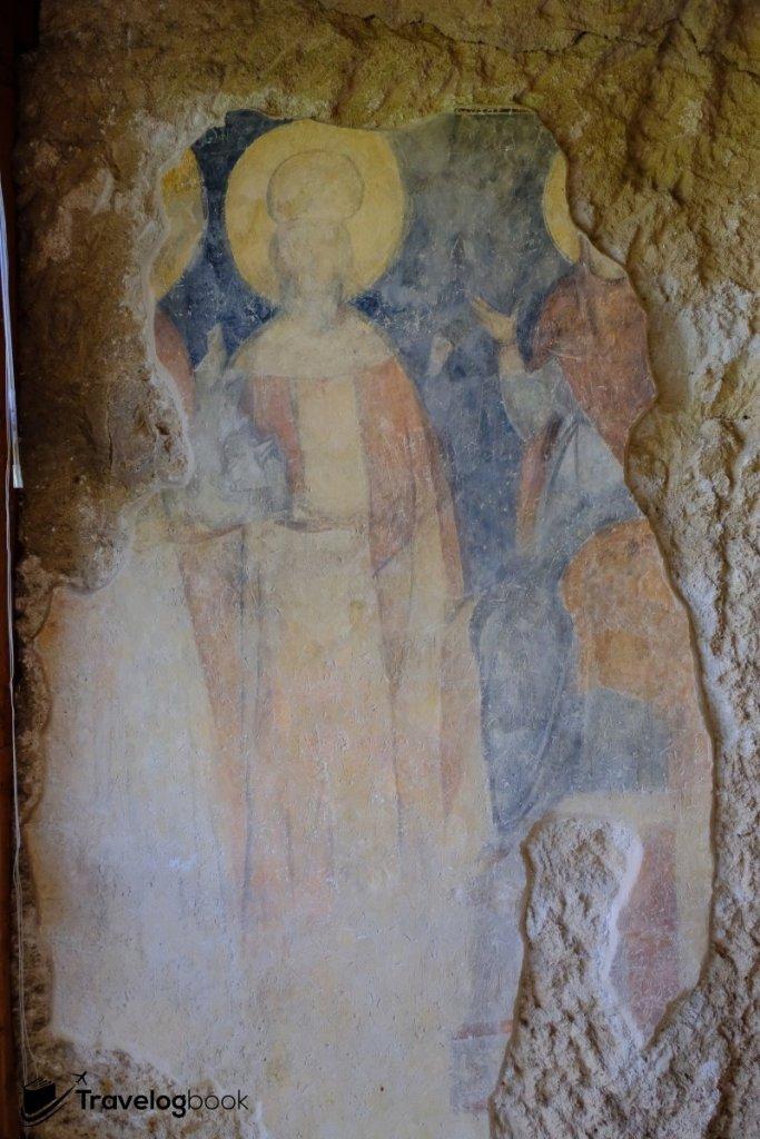 舊入口左方的沙皇Ivan Alexander和皇后Theordora畫像。