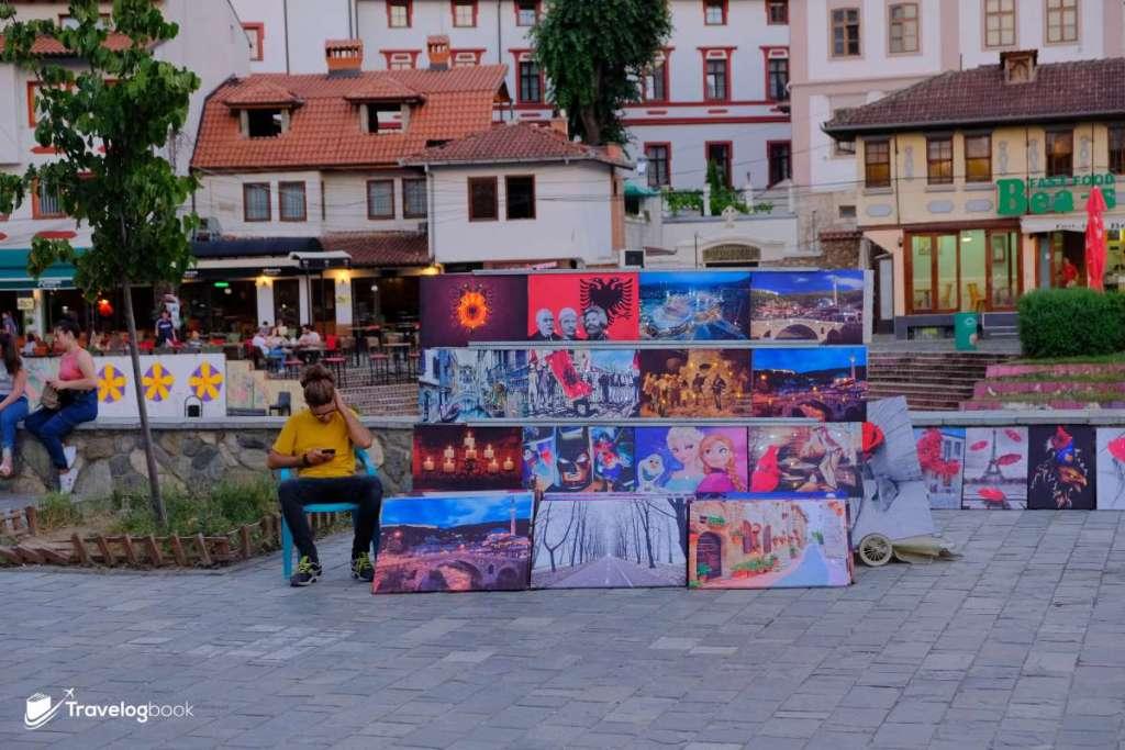 街上的賣畫人。
