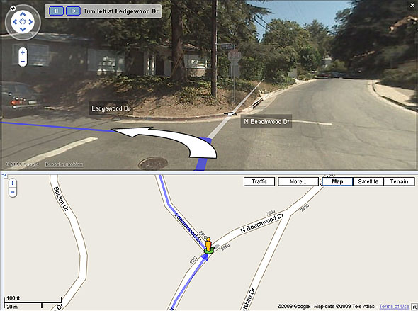 Turn left on Ledgewood Dr