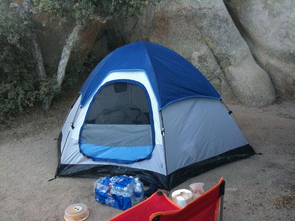 Tent at Joshua Tree National Park - Hidden Valley