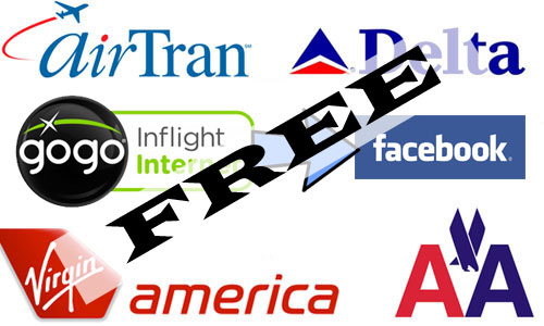 Facebook access is free on 7 N. American flights for Feb 2011