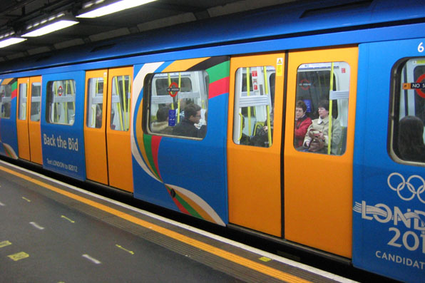 London Tube decorated for London 2012