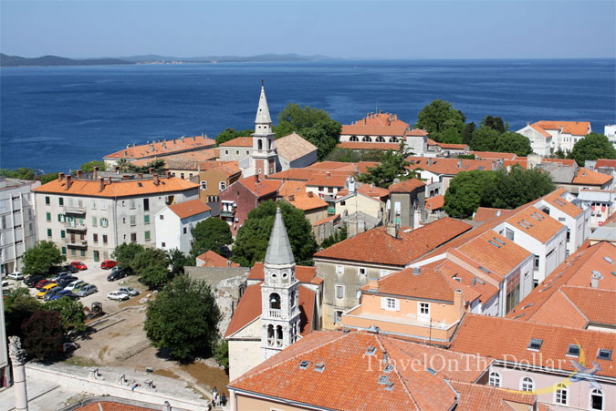 View of Zadar from top of Tower of Church of St. Donat