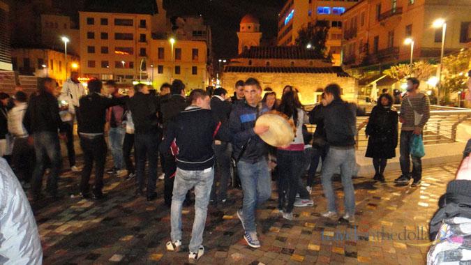 Saturday Night Party at Monastiraki Square