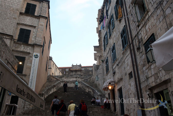 Stairs up to Jesuit Church