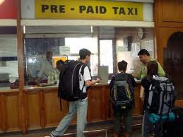 Prepaid Taxi Stand at Mumbai International Airport
