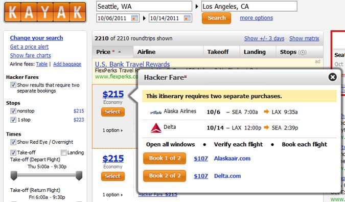 Kayak.com's Hacker Price