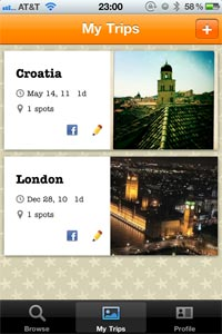 My Trips on TripColor