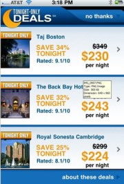 Priceline's Tonight-Only feature