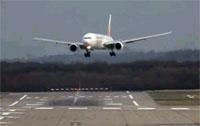 Plane Landing at Dusseldorf