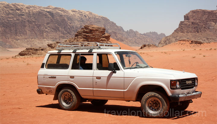 Our ride for the Wadi Rum tour