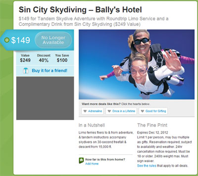 Sin City Sky Diving Groupon