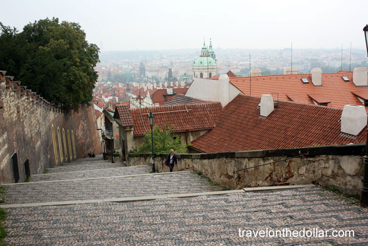 Steps leading to Prague Castle