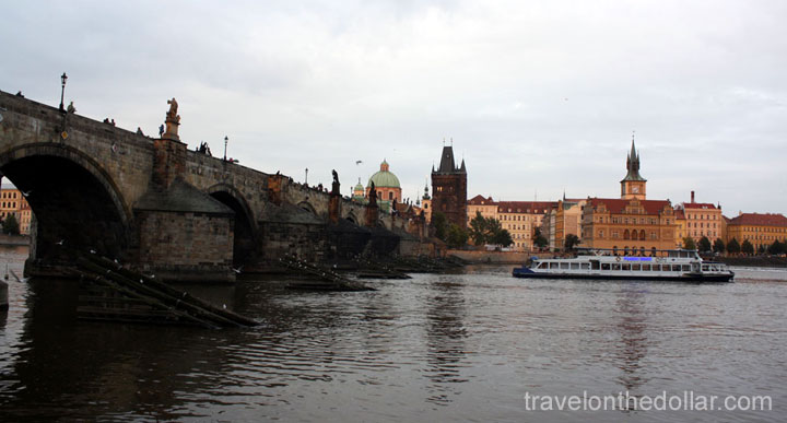 View of Old Town from below the Charles Bridge