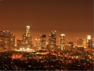 Los Angeles Skyline by night